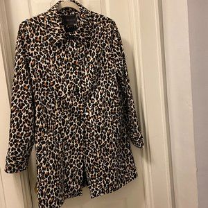 Leopard Print Coat Trench Forever 21 Size Large